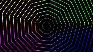 colorato poligono onda animazione seamless loop video