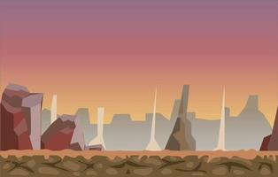 Desert Game Background Vector Illustration