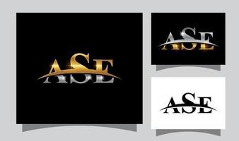 ASE Monogram Initial Logo Vector Sign