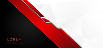 Template corporate banner concept red black grey and white contrast background vector