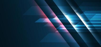 Abstract technology geometric overlapping hi speed line movement design background with copy space for text vector