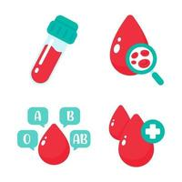 Blood vector that indicates blood type The concept of a blood test to diagnose a serious disease