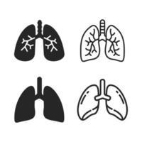 vector de los pulmones humanos los pulmones son los órganos internos del cuerpo que ayudan a respirar