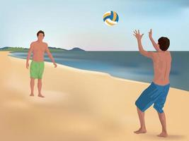 Beach Volleyball on illustration graphic vector