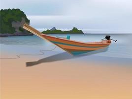 Beach Boat on illustration graphic vector