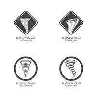 Tornado symbol vector illustration