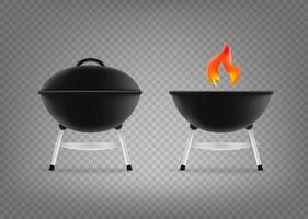 Barbecue cauldron vector clipart isolated on transparent background