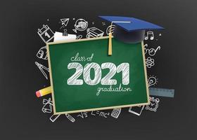 Class of 2021 graduation vector