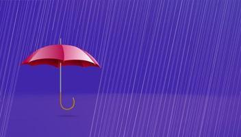banner de paraguas con espacio de copia vector