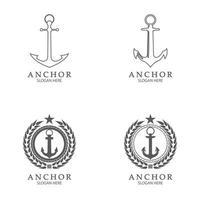 Anchor Logo Design Vector