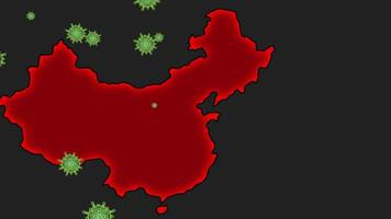 Epidemic Covid19 in China Animation video