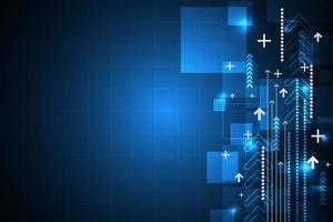 Innovación tecnológica abstracta del diseño futuro con flechas y cuadrícula. vector