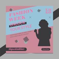 fashion sales flyer design vector