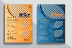 business marketing flyer design vector