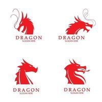 Dragon vector icon illustration