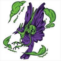 diseño de ilustración de sombra de cuervo vector