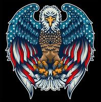 eagle american flag vector