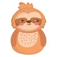 sloth animal cartoon vector