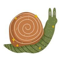 lindo animal caracol vector