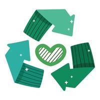 ecología de reciclaje verde vector