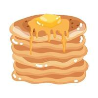 pancake with syrup vector