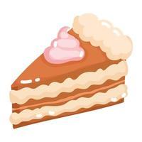 bakery slice cake vector