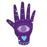 magic esoteric hand vector