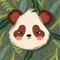 panda face frond vector