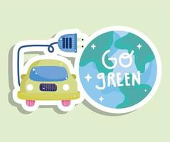 go green energy vector