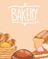 bread baked daily vector
