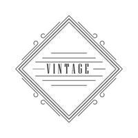 plantilla de etiqueta vintage vector