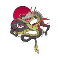 traditional asian dragon vector