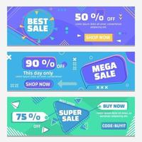 Super Sale Banner Collections vector