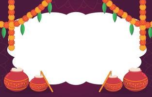 Janmashtami Background Template vector