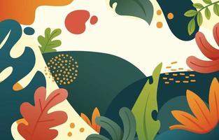 Concepto de diseño de fondo de hojas de colores vector