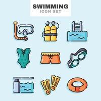 Swimming Icon Set vector