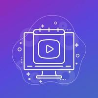 icono de línea de plan de contenido para web vector