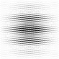 Halftone circle vector pattern with black dots design element circle raster texture on white background