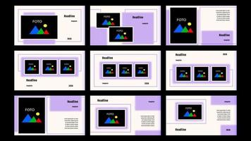 presentación rectángulo borroso plantilla de páginas de destino vector