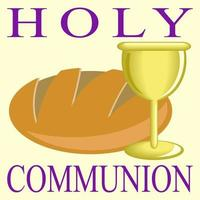 Holy Communion Bread and Wine vector