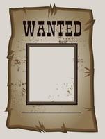 cartel de se busca el salvaje oeste vector