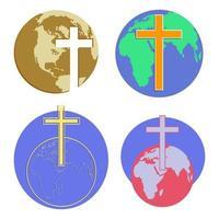 globos de la cruz del mundo vector