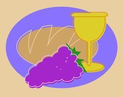 Bread and Wine vector