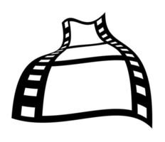 Fotogramas de carrete de película de 35 mm vector