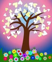 Romantic Love Heart Tree vector
