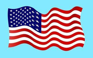 Wavy Patriotic American Flag vector
