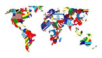 World Flag Map vector
