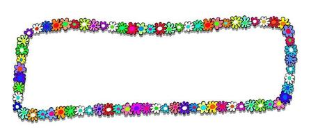Doodle Floral Daisy Banner vector