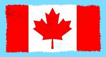 Grunge Torn Canadian Flag vector