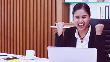 Asian woman lecture through video conferencing system concept doing business online